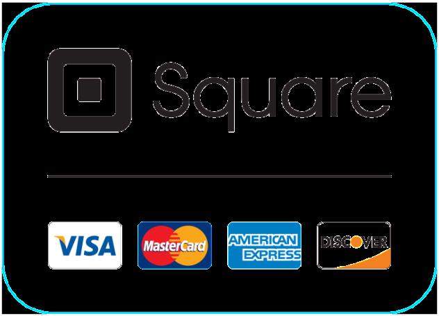 Visa Mastercard American Express Discover Square